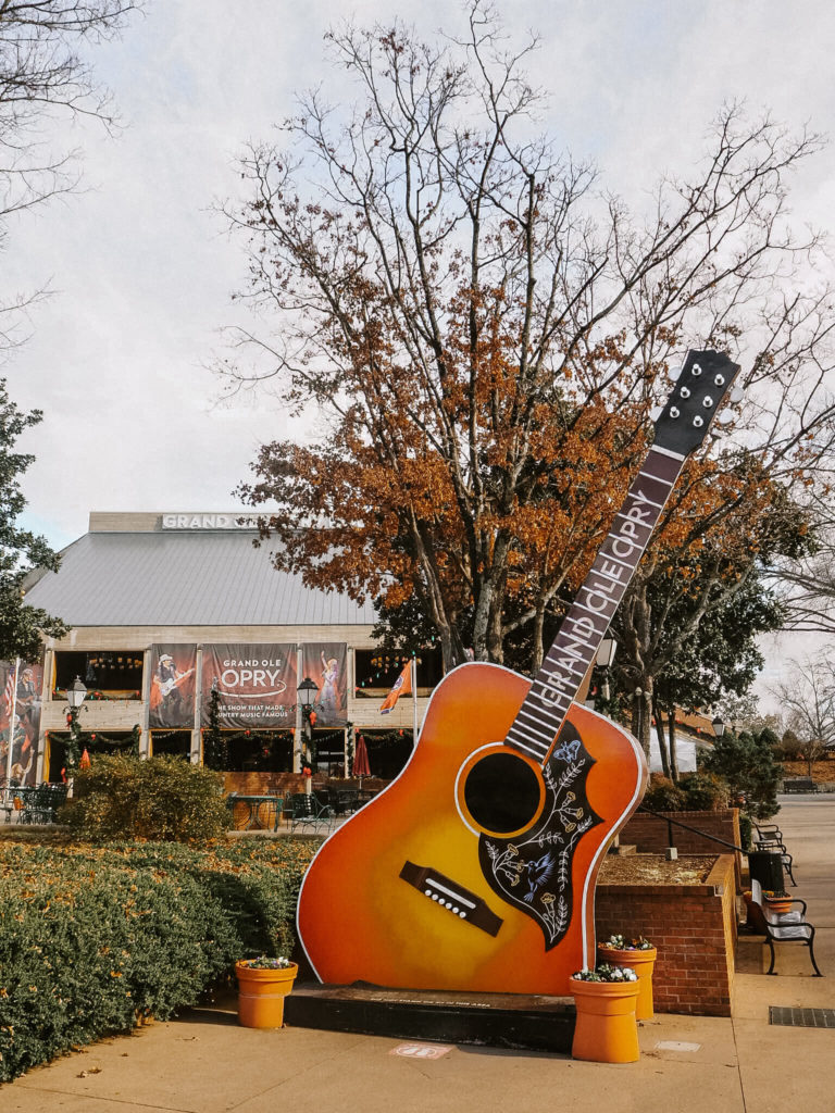 A guide to the best photo spots in Nashville by travel blogger My Meraki Travel, Grand Ole Opry