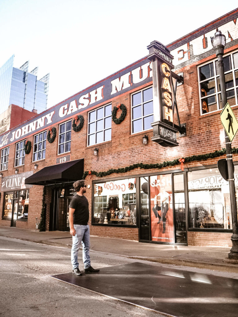 A guide to the best photo spots in Nashville by My Meraki Travel. Johnny Cash Museum, Broadway
